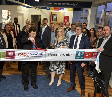 FASTSIGNS franchisee David Hiney discusses his first year at the Bolton centre